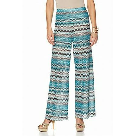 Nikki by Nikki Poulos NEW Blue Womens Size Small S Chevron Lynne Pants ef932201f