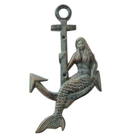 Handcrafted Nautical Decor Mermaid Anchor Wall D cor](Anchor Wall)