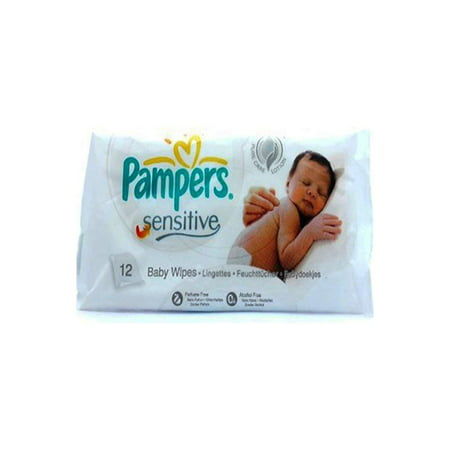 Pampers Sensitive Baby Wipes (12 Wipes In 1 Pack) 318668 - image 1 de 1