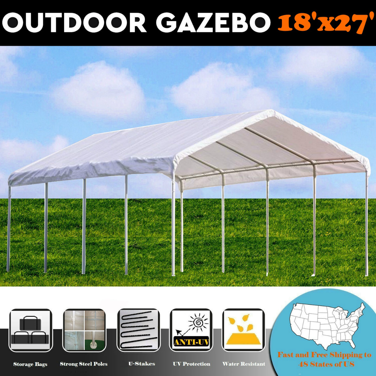 18'x27' Multi-Use PE Shelter Party Tent Canopy Carport - By DELTA Canopies