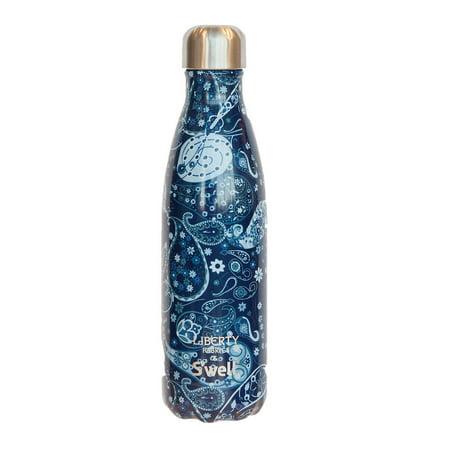 Starbucks Christmas 2017 Swell Insulated Water Bottle w/ Liberty of London Fabrics Original Artworks (Blue Paisley) 17 Oz - Fabric London Halloween 2017