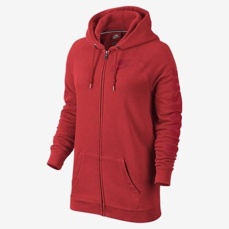 Nike - Nike Rally Boyfriend Fit Full Zip Women s Hoodie RED 718818 ... 951f8b1817