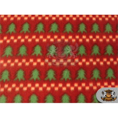 fleece printed fabric christmas tree 58 wide sold by the yard