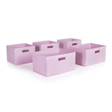 Pink Storage Bins - Set of 5 (Pink Storage Bin)