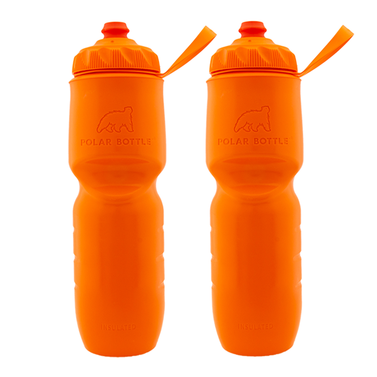 Polar Bottle (2 Pack) Insulated Water Bottle, 24 Oz Squeeze And Handheld Water Bottle Set, BPA Free For Sports, Exercise, Fitness, Cycling, Bicycle