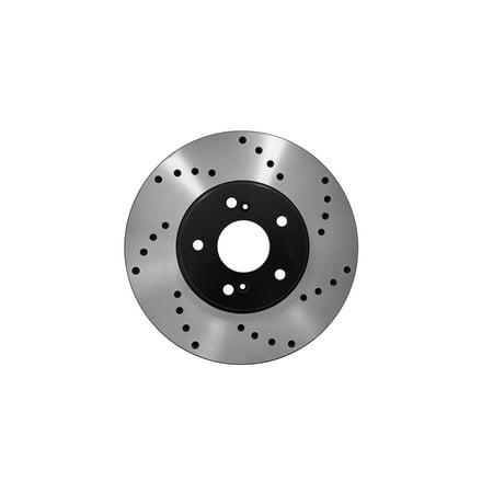 [Front Premium E-Coat Drilled Brake Rotors Ceramic Pads] Fit 2006 Acura CSX - image 2 of 2