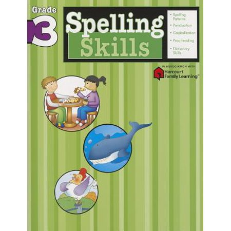 Spelling Skills: Grade 3 (Flash Kids Harcourt Family Learning) (Paperback) - The Flash Kids