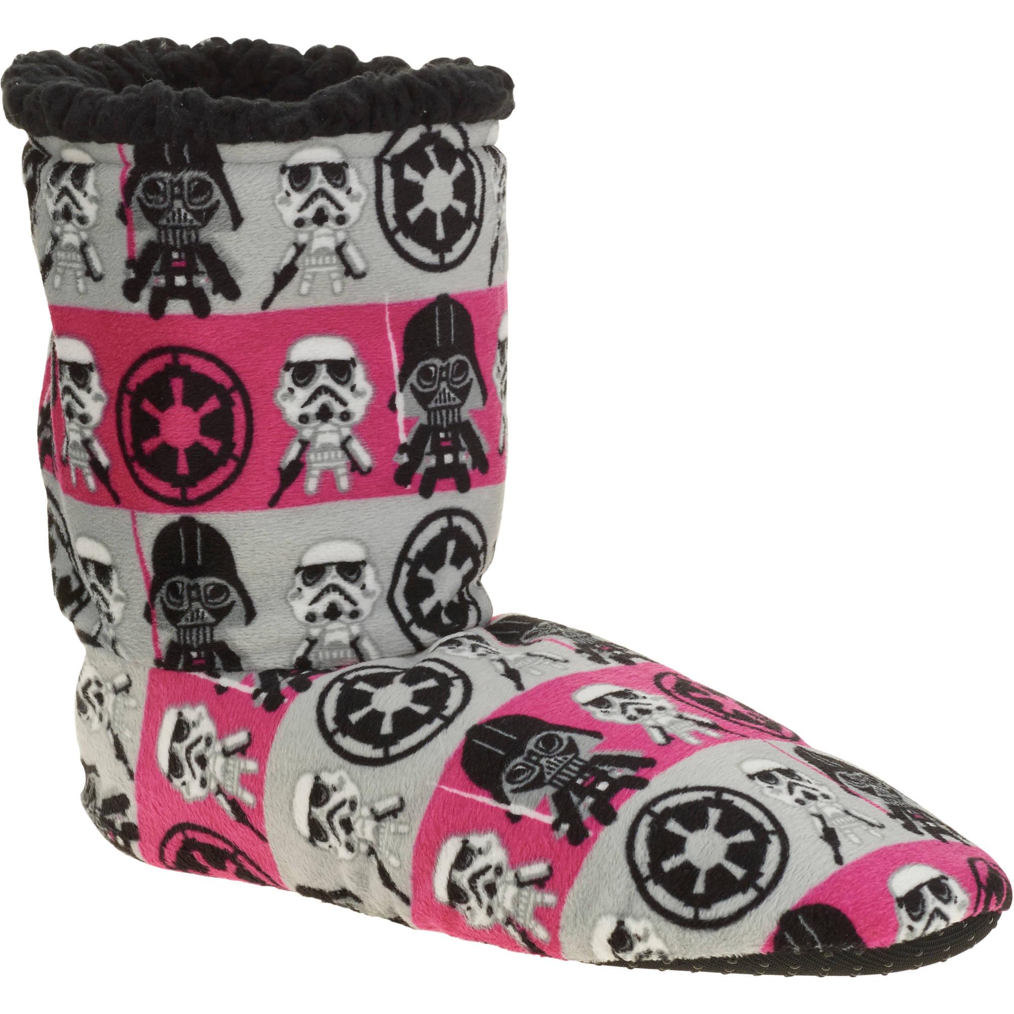 Silky Suede Fuzzy Babba Star Wars Printed Bootie Slipper Socks