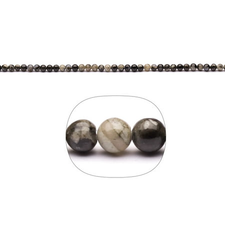 Mix Gemstone 4mm Round Beads Strand (2-String Bundle), SAVE $1