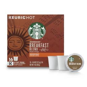 edb3548e5b9 Starbucks Breakfast Blend Medium Roast Single Cup Coffee for Keurig  Brewers, 1 Box of 16 (16 Total K-Cup Pods)