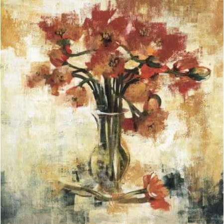 Symphony of Poppies Rolled Canvas Art - Liz Jardine (12 x 12)