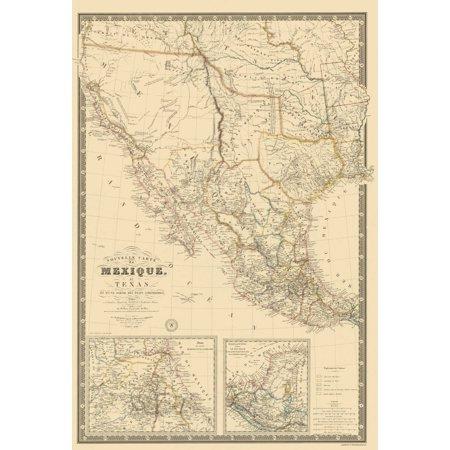 old north america map mexico southwest united states brue 1840 23 x 3375 walmartcom