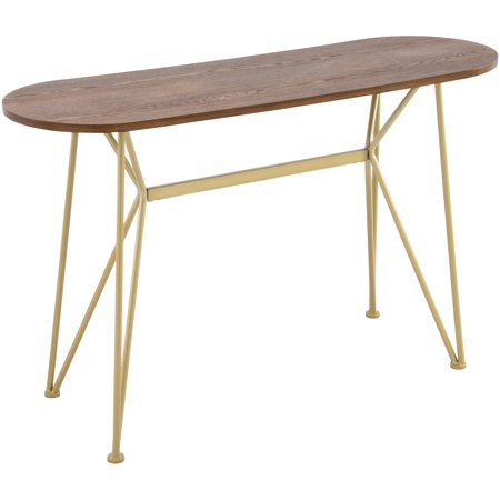 Better Homes & Gardens Genevieve Console Table, Wood Top with Gold Base ()