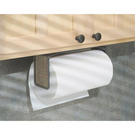 InterDesign Twillo Paper Towel Holder for Kitchen, Wall Mount/Under Cabinet, Bronze