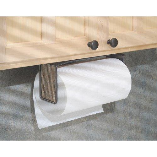 interdesign twillo paper towel holder for kitchen wall mount under cabinet bronze. Black Bedroom Furniture Sets. Home Design Ideas
