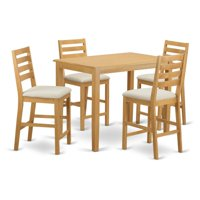 East West Furniture Yarmouth 5 Piece High Ladder Dining Table Set