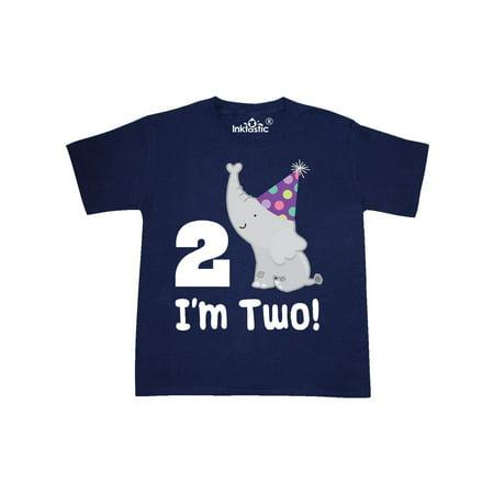 Happy 2nd Birthday Zoo Elephant Youth T Shirt