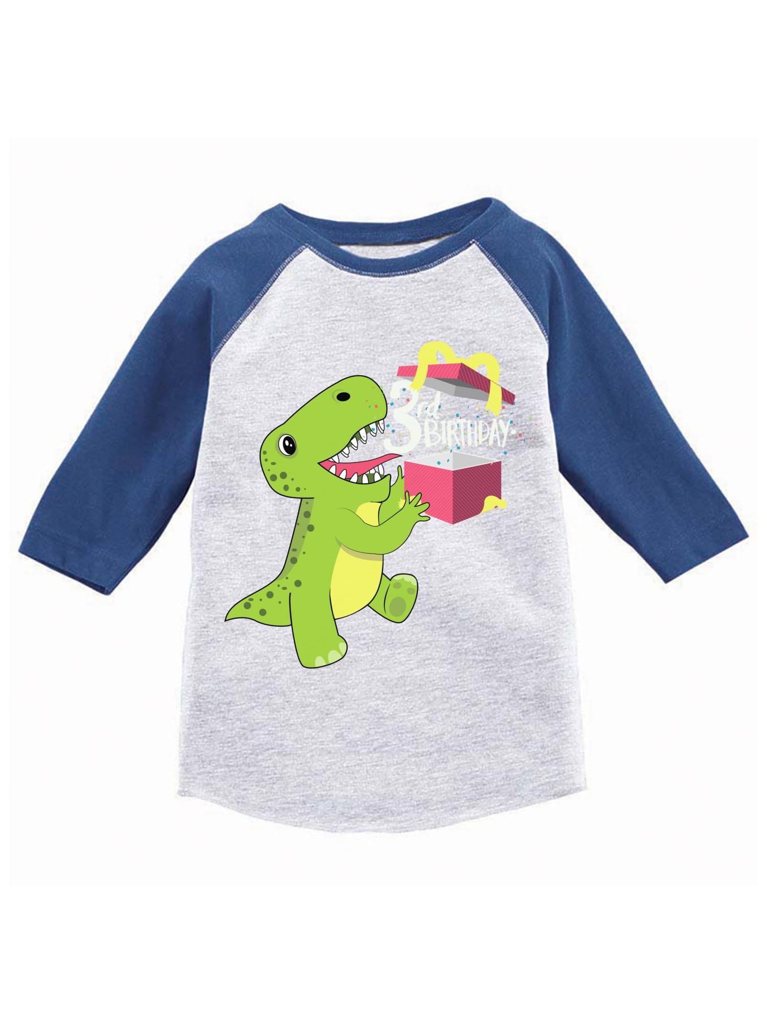 4ed189dd5 Awkward Styles Dinosaur Birthday Toddler Raglan Jersey Shirt For 3 Year Old  3rd Gifts Boy Baseball