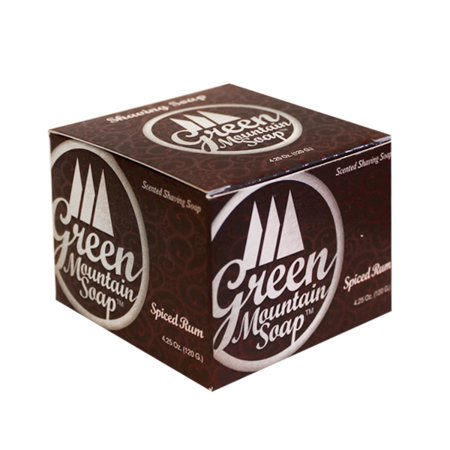 Spiced Rum Shave Soap by Green Mountain Soap (4.25oz Shave