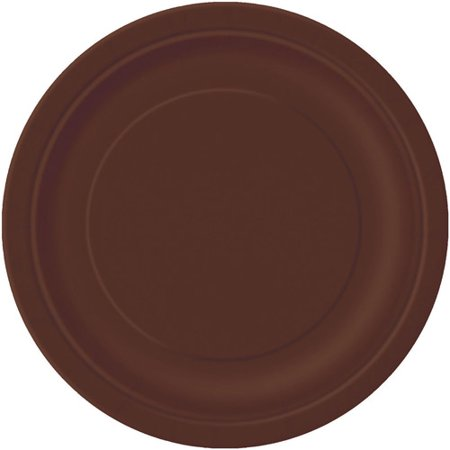 Paper Plates, 9 in, Brown, 16ct