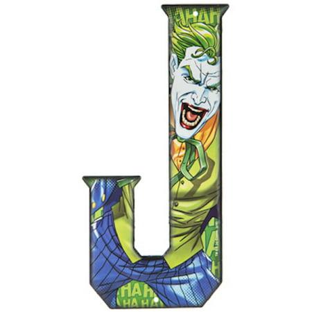 Joker Superhero Letter J Metal Sign Home Decoration Wall Art Media Room Man Cave](Joker Decorations)