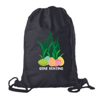 Easter Basket Backpack Bulk Cotton Drawstring Cinch Bags Easter Bunny Gift Bags - Gone Hunting