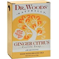 Dr. Woods Naturals Bar Soap Organic Ginger Citrus, 5.25 Ounce (Pack of 8)