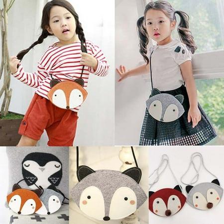 New Toddler Kids Baby Small Cartoon Fox Shoulder Bags Children Girls Messenger Bag Purses