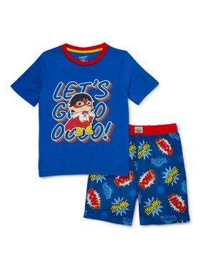 Ryan's World Boys 4-8 'Super Ryan' Short Sleeve Short Pant, 2-Piece Pajama Set