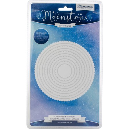 Hunkydory Moonstone Dies Scalloped & Straight Nesting Circles