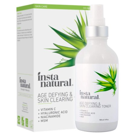 InstaNatural Age Defying & Skin Clearing Toner, For Oily Skin, 4