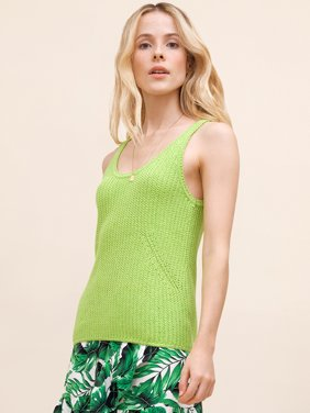 Scoop Womens Sweater Tank Top