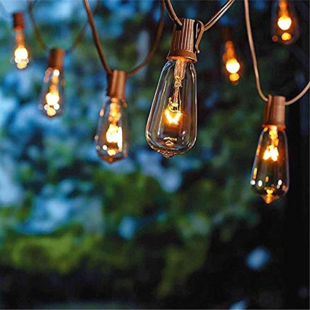 Extra Bulb Ul Listed C9 Light String, Clear Patio String Lights