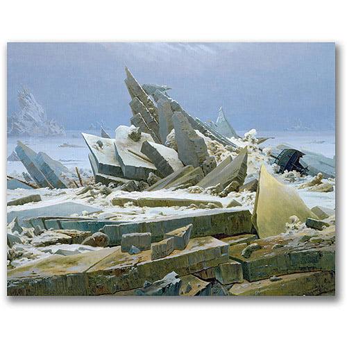 "Trademark Fine Art ""The Polar Sea"" Canvas Wall Art by Caspar David Friedrich"