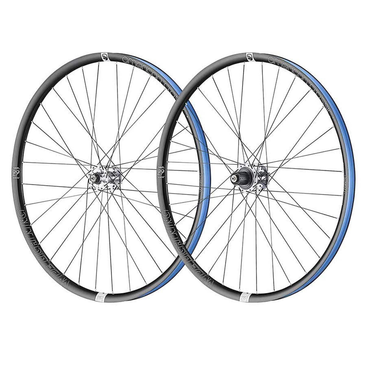 American Classic Wide Lightning Tubeless Ready Bicycle Wheel Set - 29 - 9/10/11 15x100 / 12x142 - 712155792418