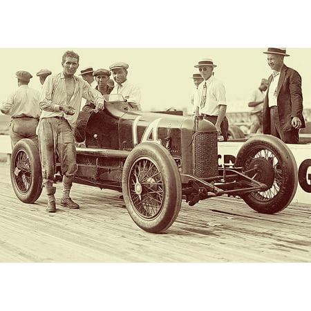 Canvas Print Classic Car Laurel Speedway Racing Car Vintage Car Stretched Canvas 10 x -