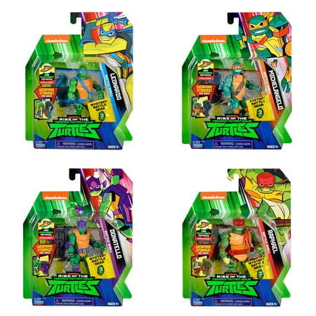 Rise of the Teenage Mutant Ninja Turtles Basic Battle Shell Figure 4 Pack - Soft Bundle