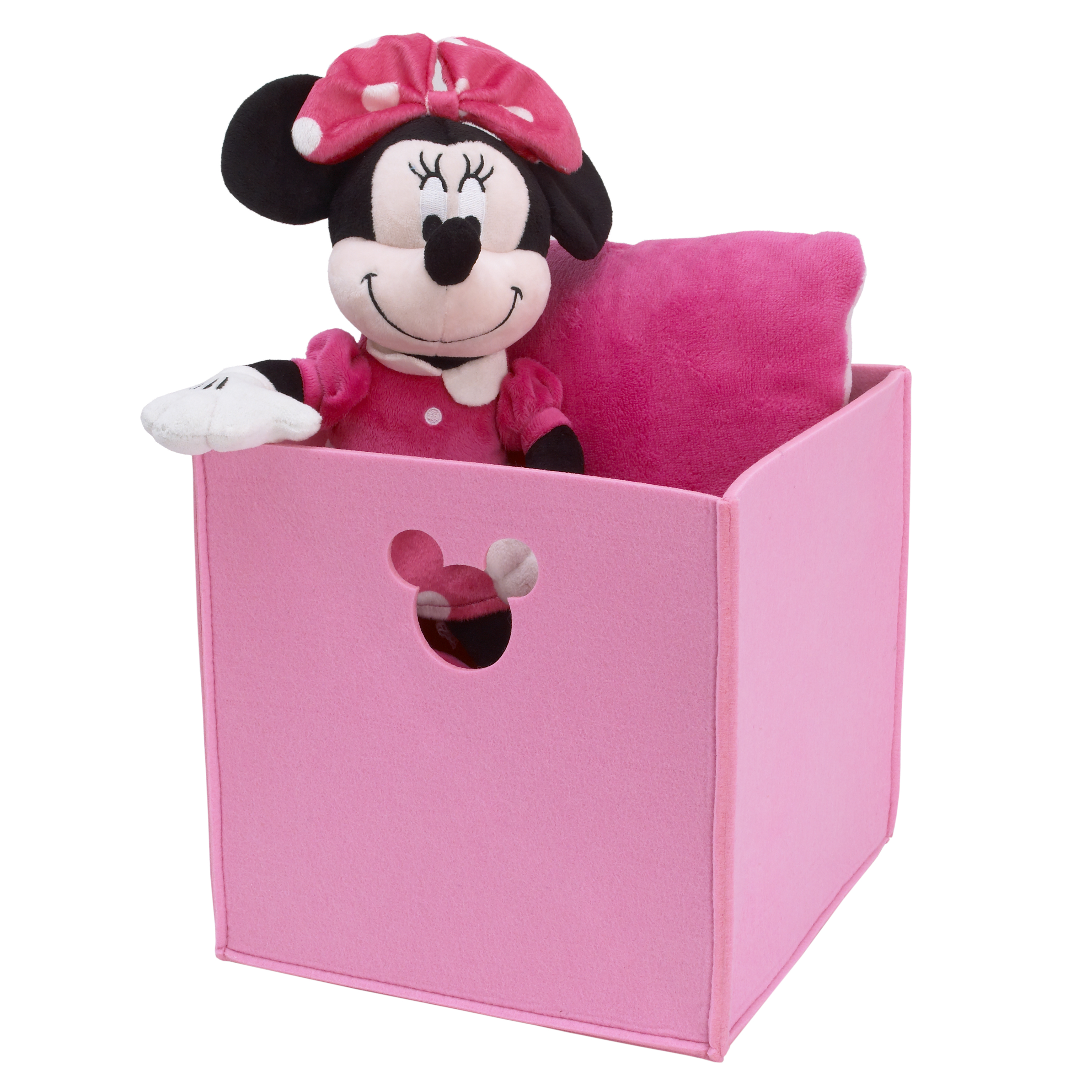 Disney Baby Minnie Mouse Pink Felt Storage Bin