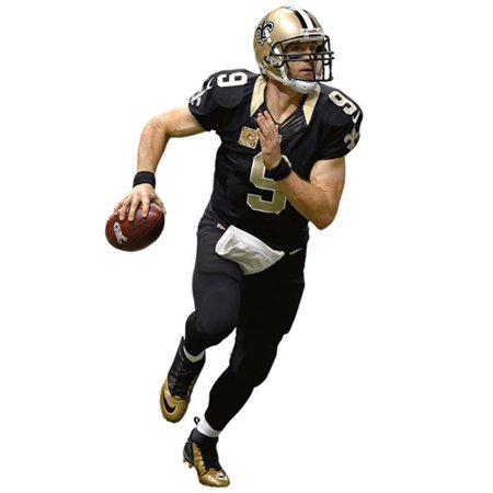 Drew Brees New Orleans Saints Fathead Home Life Size Removable Wall Decal - No Size