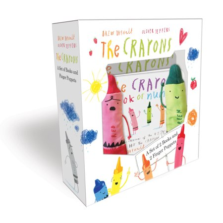 The Crayons: A Set of Books and Finger Puppets (Board Book) - Billy The Puppet Dead Silence