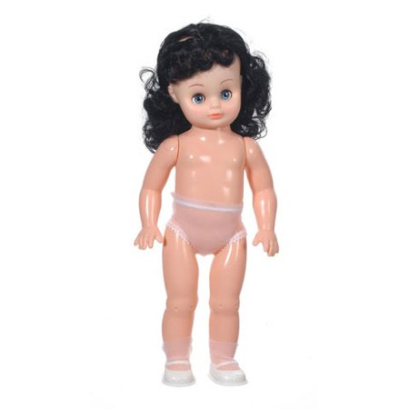 Full Doll - Caucasian Girl - Black Hair - 13.5 inches - Craft Dolls