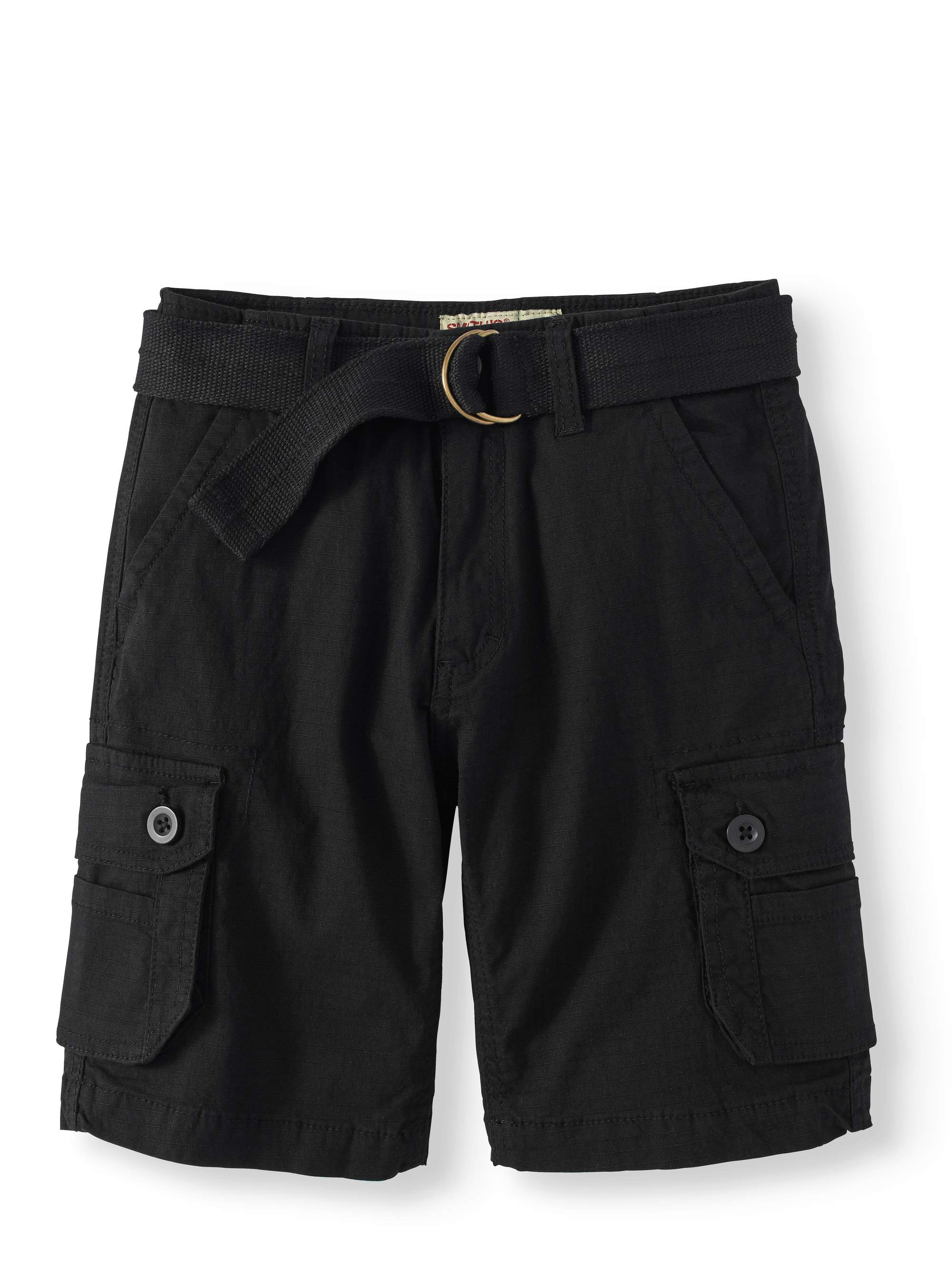 Boys' Belted Cargo Rip Stop Shorts