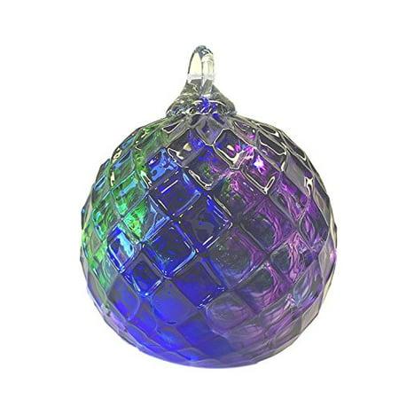 glass eye studio jeweled tone cobalt emerald purple diamond classic ornament - Glass Eye Studio