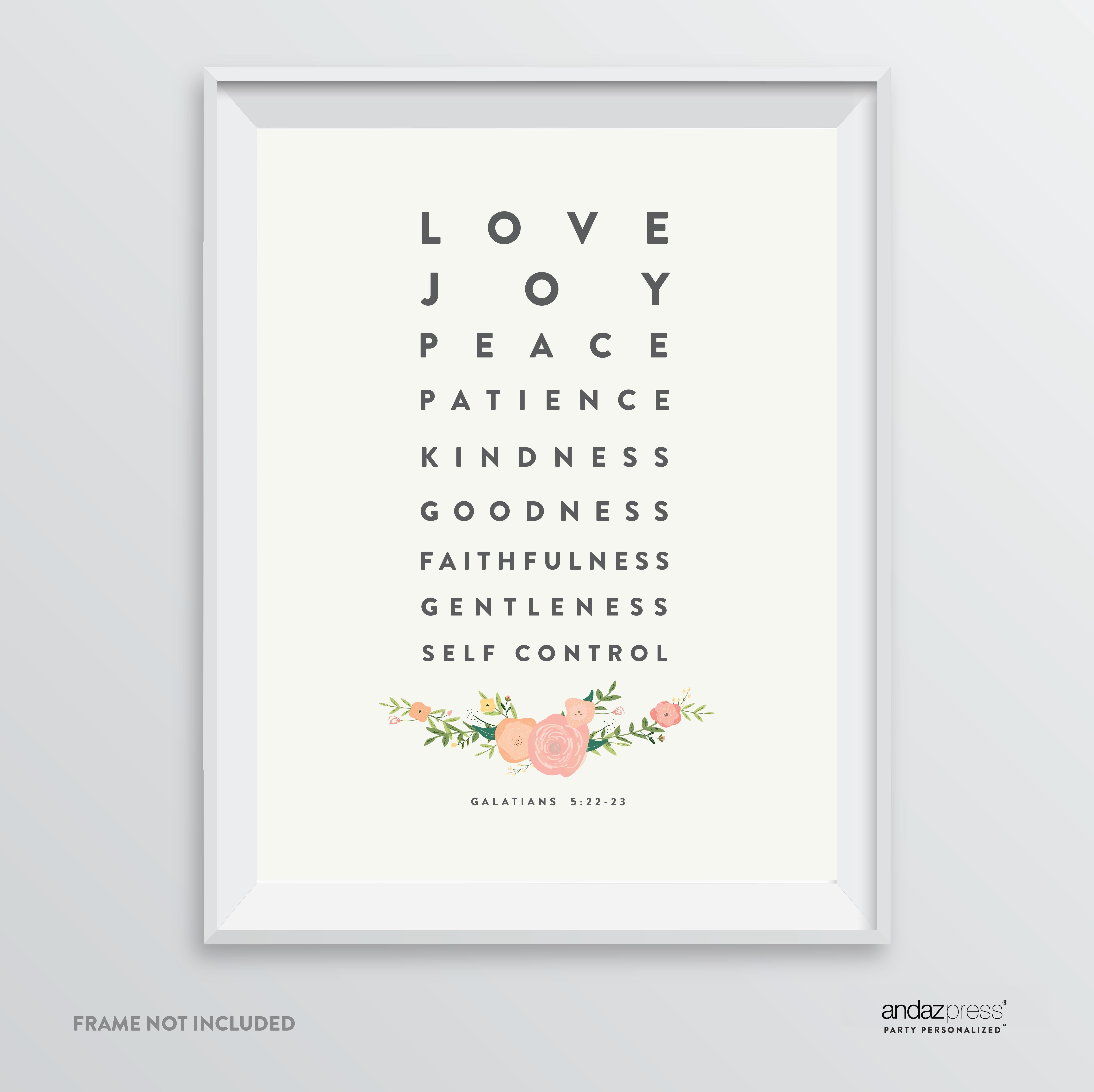 Love Joy Peace Patience Kindness Galatians 5 22 23 Bible Verses