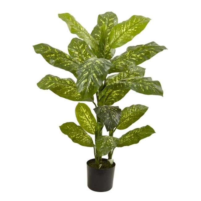 Nearly Natural 6823 4 ft.  Dieffenbachia Plant - Real Touch