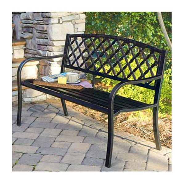 Latt Back Stl Bench