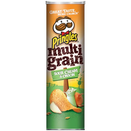 Pringles Multigrain Sour Cream & Onion Potato Crisps, 6.63 ...