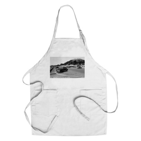 Depoe Bay, Oregon - View of the Aquarium, Oregon Coast Highway (Cotton/Polyester Chef's Apron)