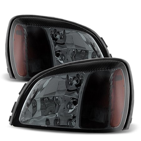Cadillac Deville Headlight Replacement (Fit 2000-2005 Cadillac Deville Smoked Replacement Headlights L+R 2001)