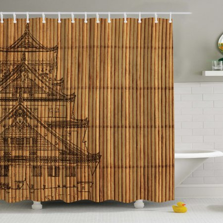 Ambesonne Japanese Reed Print Shower Curtain Walmartcom